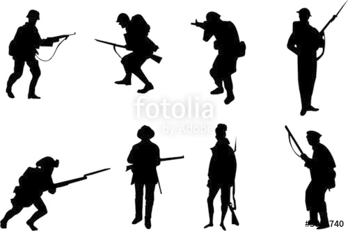 Soldiers clipart english soldier Silhouettes