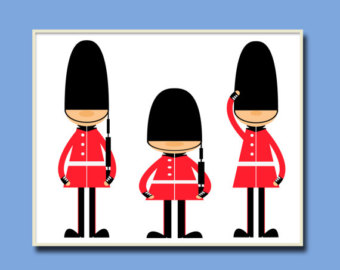 Soldiers clipart english soldier Print English Decor English Print