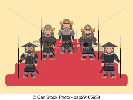 Soldiers clipart japan Vector soldier Ancient chinese Clip