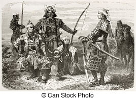 Soldiers clipart japan  Samurai Japanese  Stock