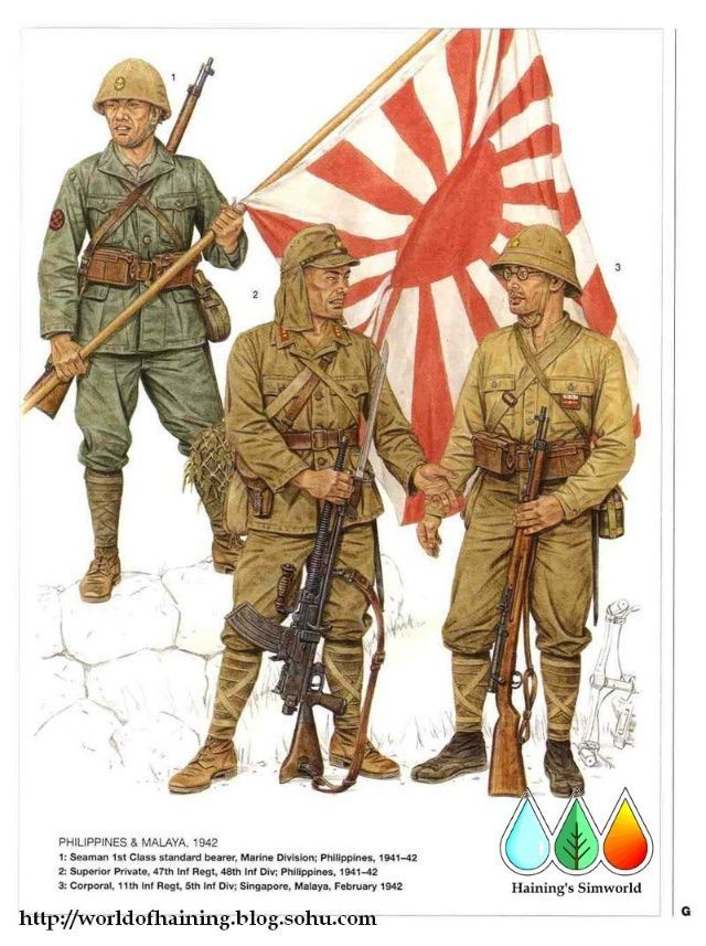 Soldiers clipart japan Philippines Japanese WW2 1942 soldiers