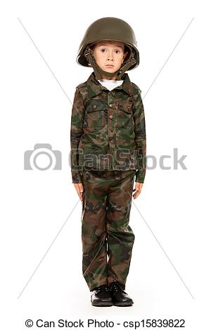 Soldier clipart kid Like Isolated a kid white