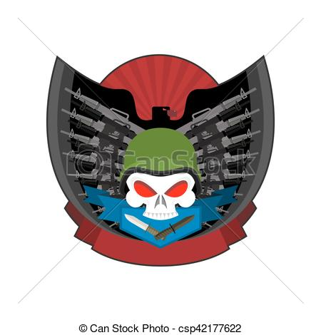 Soldiers clipart military emblem Weapons Wings and in beret