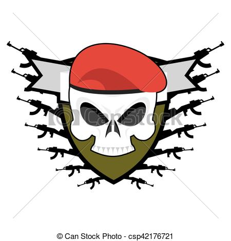 Soldiers clipart military emblem In badge Skull logo Soldiers