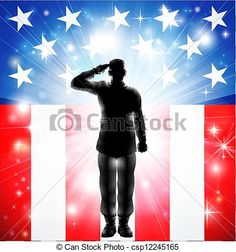 Soldiers clipart salute logo Military saluting silhouettes military salute
