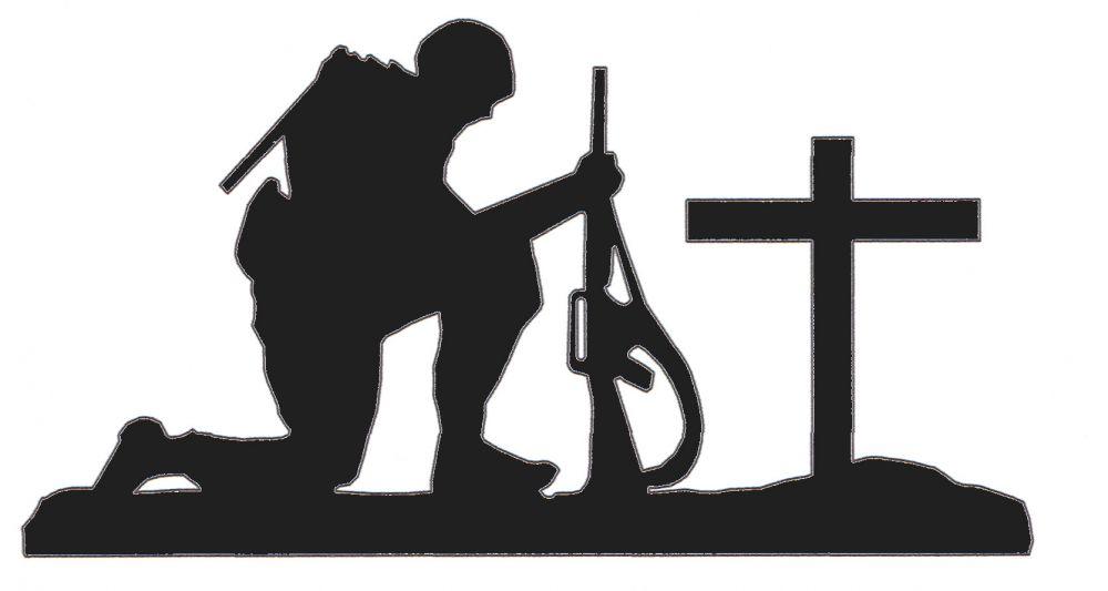 Shadow clipart military Praying Art Clip  Praying