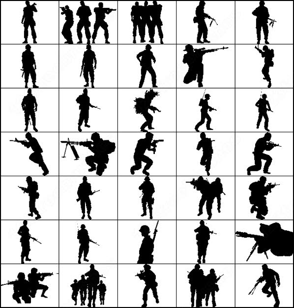 Soldiers clipart soldier shooting At shot shot when sewing