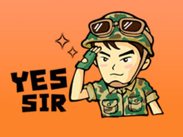 Soldiers clipart yes sir Stickers by Imanberlin Brave Abay