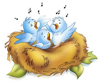 Nest clipart chirping bird #3