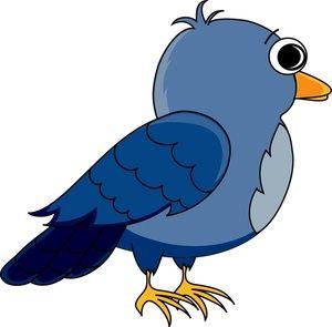 Wildlife clipart songbird Colorful eyes cartoon bird Cartoon