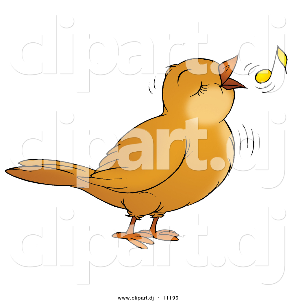 Songbird clipart Note by Stock Bird with