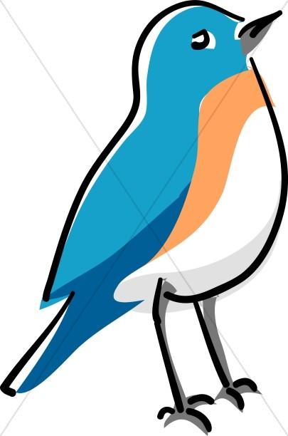 Wildlife clipart songbird Clipart Standing Songbird Songbird Blue