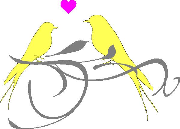 Yellow clipart love bird Com at as: Art online