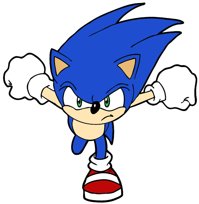 Sonic The Hedgehog clipart #2
