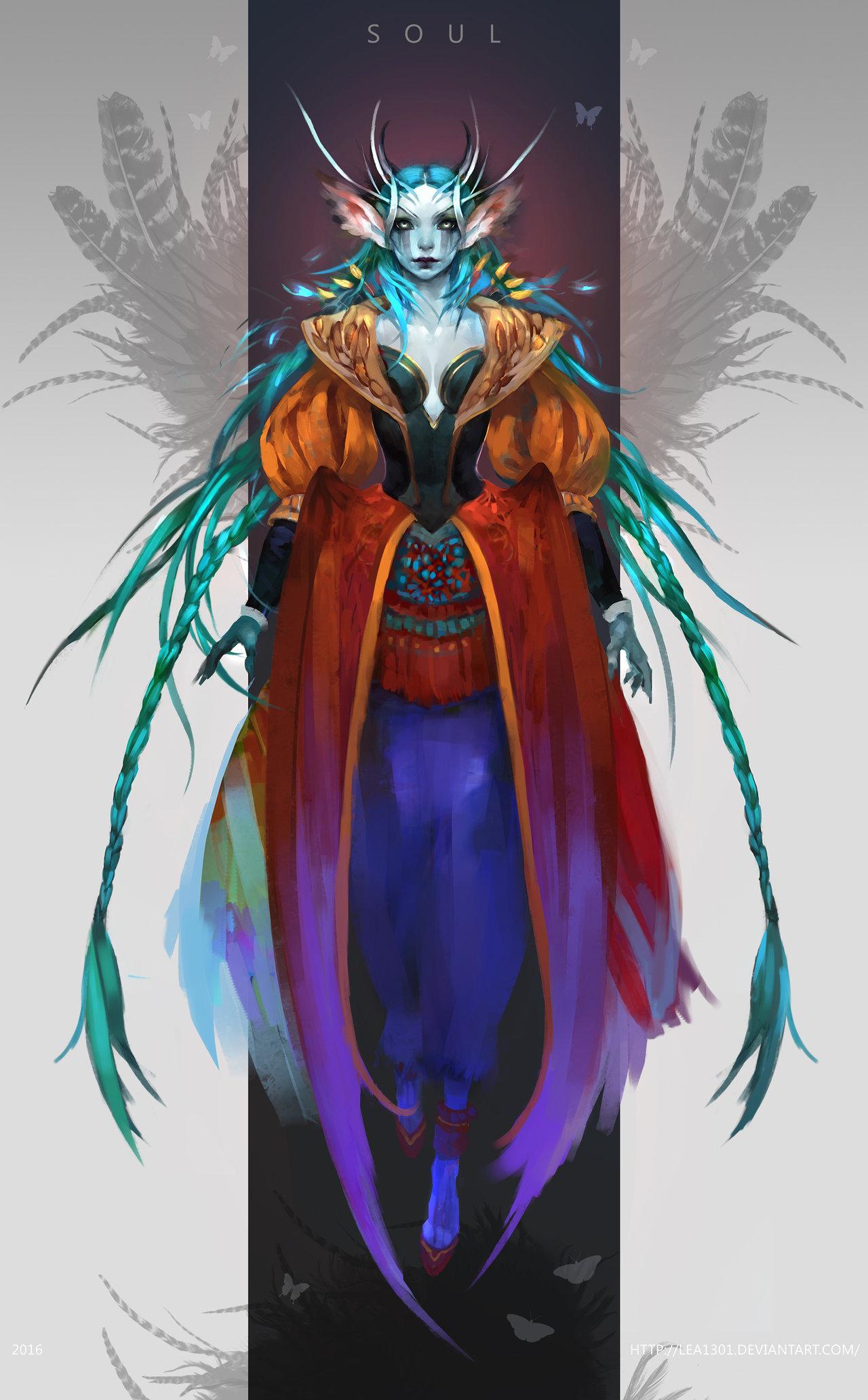 Sorceress clipart warlock Warlock female elf by fashion