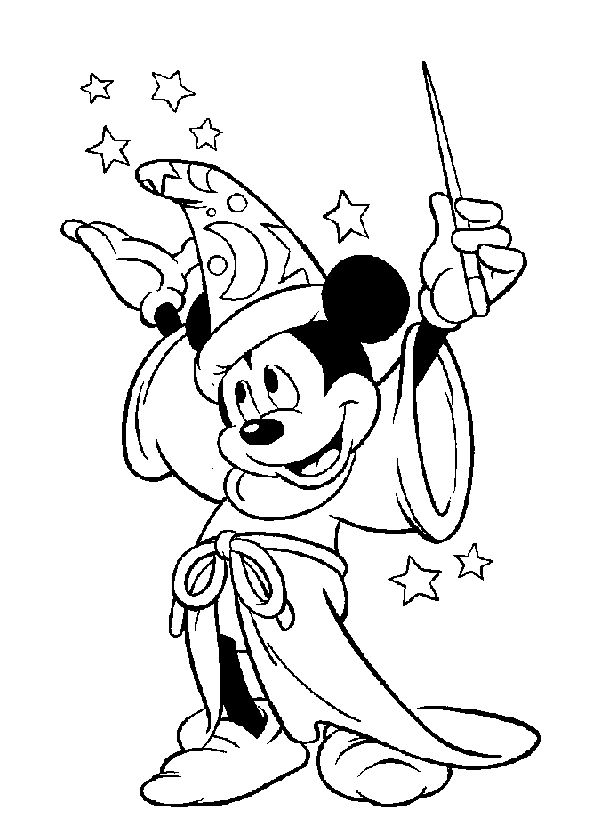 Sorcerer clipart coloring On Mouse  Sorcerer Mickey
