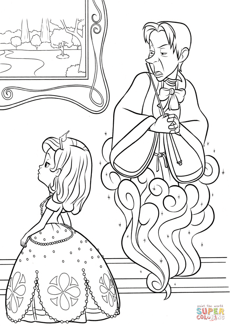 Sorcerer clipart coloring And Sofia page  Click