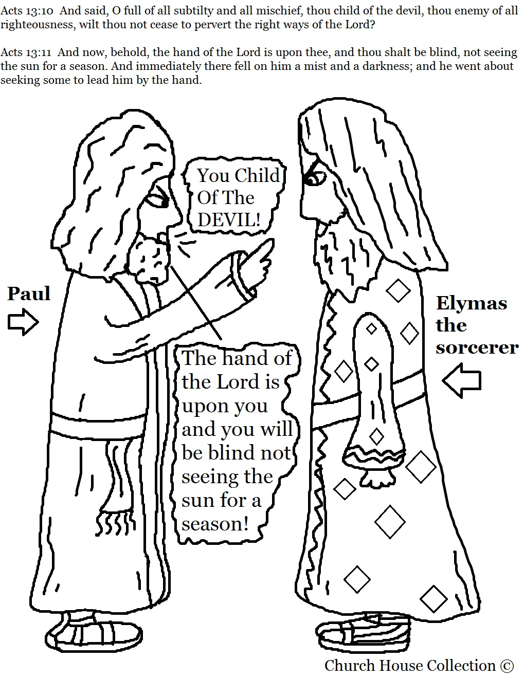 Sorcerer clipart coloring Page and Black Printable and