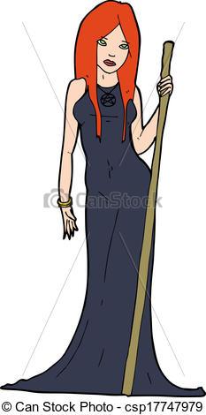 Sorceress clipart Of cartoon cartoon sorceress sorceress
