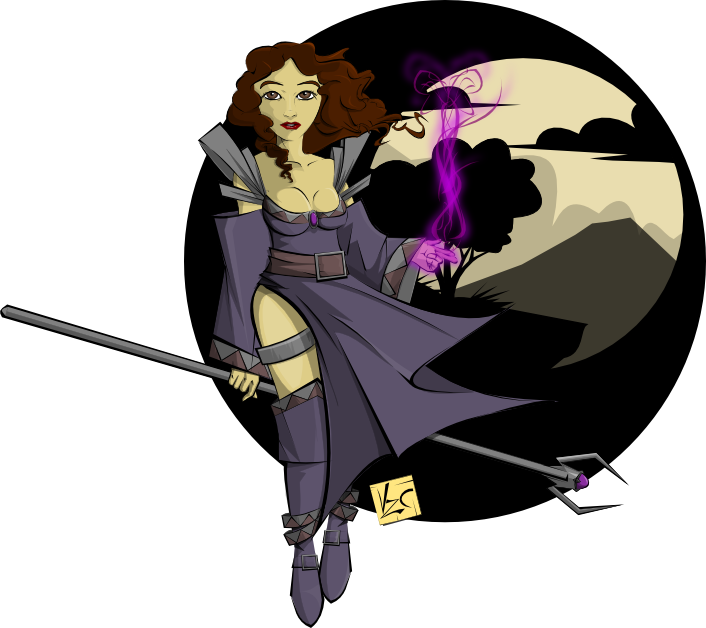 Sorceress clipart Free Art ClipArtLord to Clip