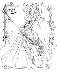 Sorceress clipart coloring Pin more Sorceress Witch best
