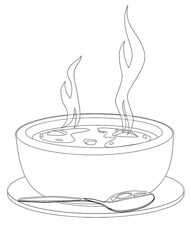 Stew clipart black and white Of 20 soup images Google