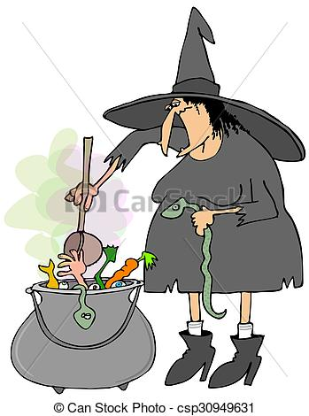 Soup clipart cauldron In soup Witch Illustration