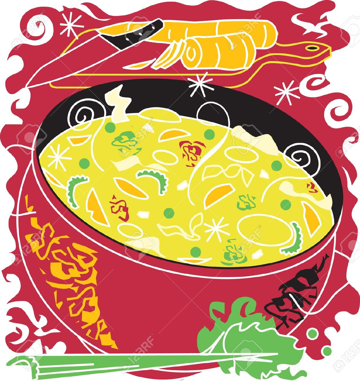 Soup clipart chinese Zone Chinese Chicken clipart noodle
