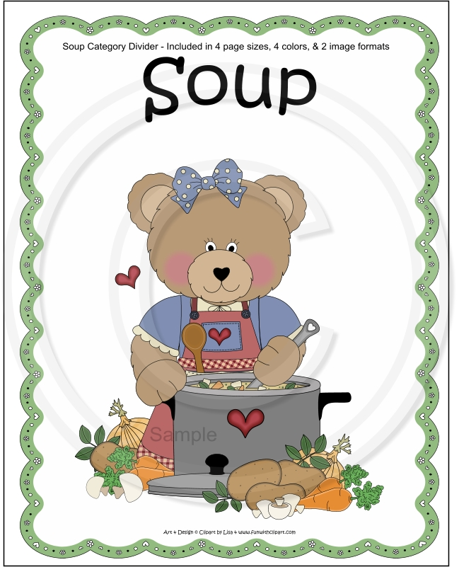 Soup clipart cookbook Cookbook Divider Category Recipe Soup
