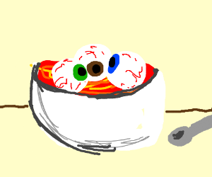 Soup clipart eyeball Ghost) soup by Eyeball (drawing