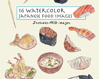 Soup clipart japanese food Sushi Japanese Set Digital art