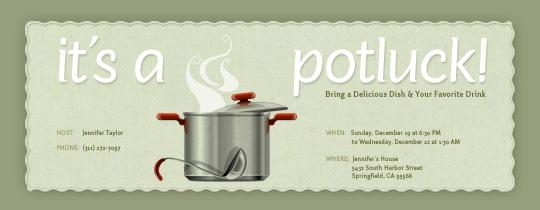 Soup clipart potluck dinner Potluck Evite Potluck Invitation Evite