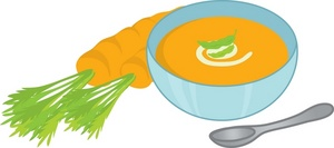 Carrot clipart bowl Image carrots next soup image