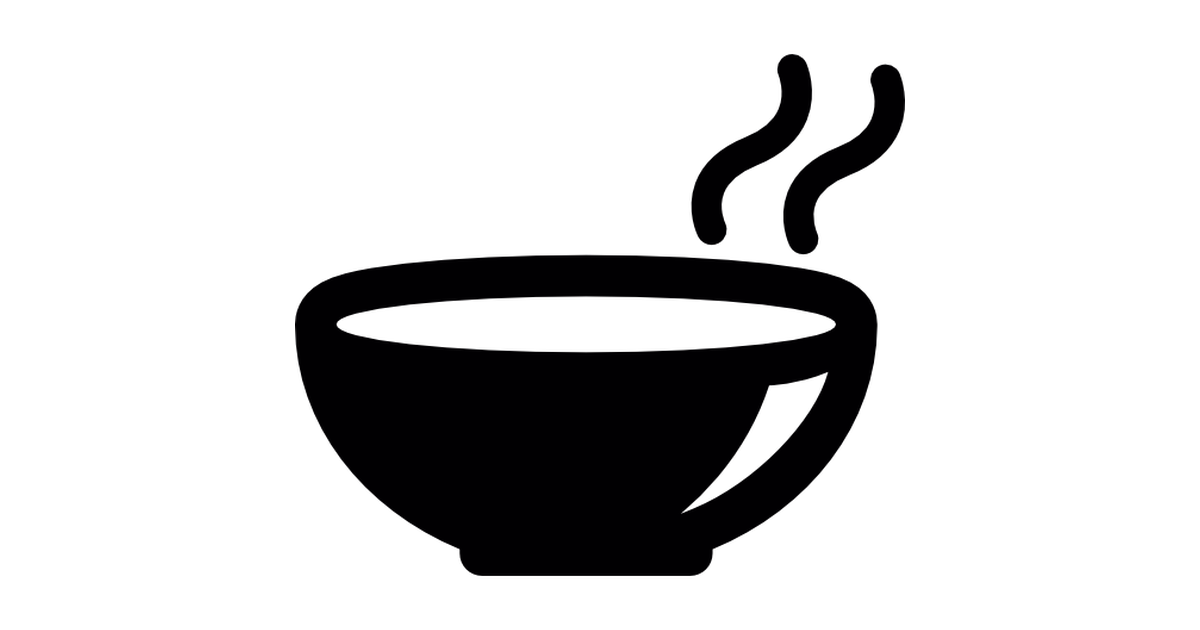 Soup clipart silhouette Free soup icons Hot bowl