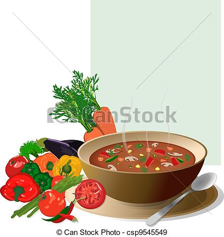 Soup clipart vegetable soup With with Stock soup Illustration