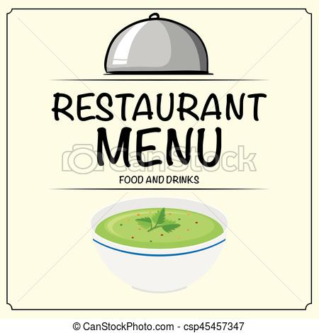Soup clipart vegetable soup EPS Restaurant menu vegetable with