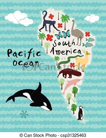 America clipart cartoon Cartoon Vector Animal of map