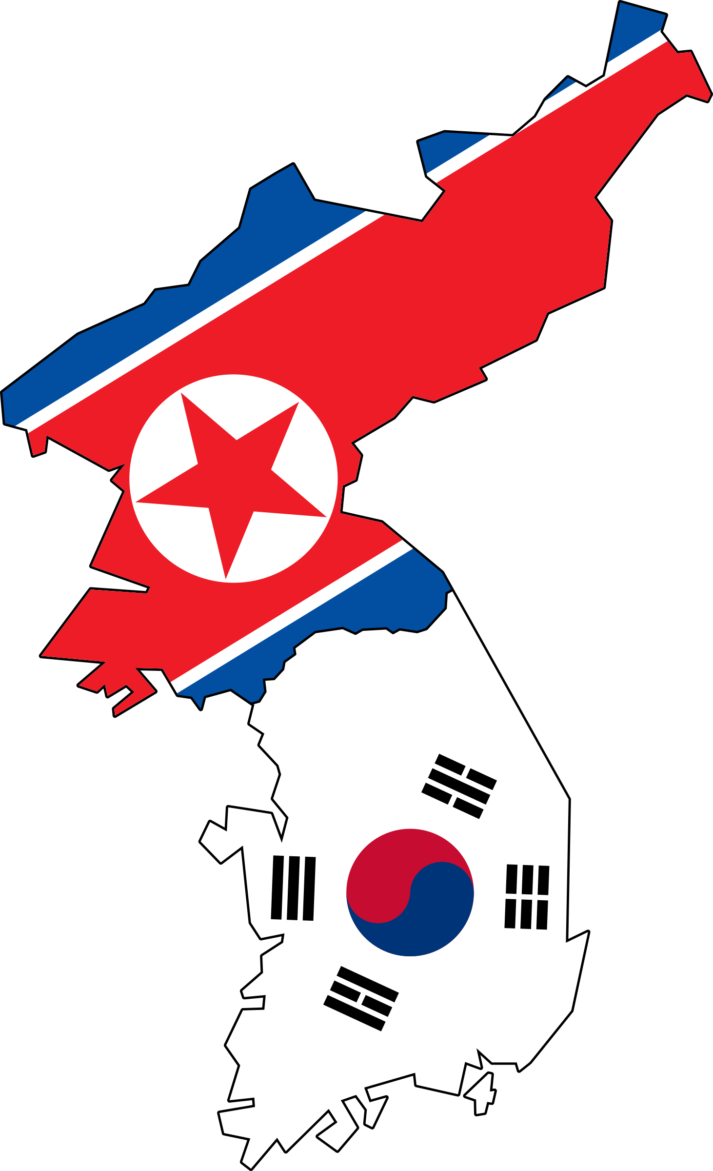 South Korea clipart Flag North & South Jeju)
