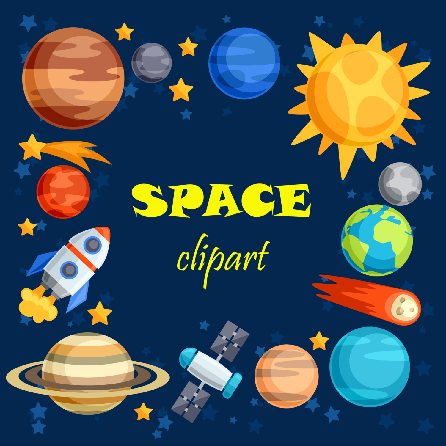 Planets clipart Space Outer Outer art space
