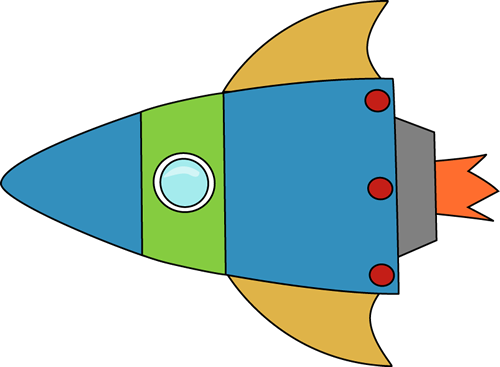 Galaxy clipart space rocket #4