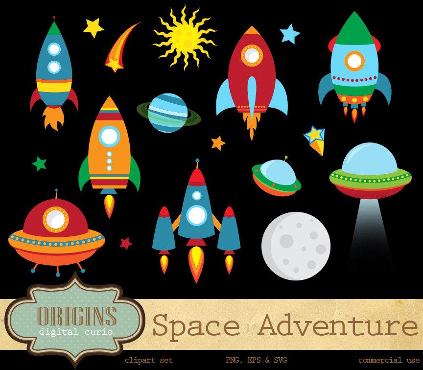 Adventure clipart outer space Clipart OriginsDigitalCurio Space on Rockets