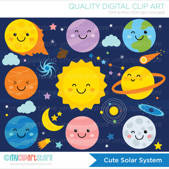 Space clipart solar system #15