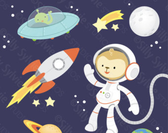 Galaxy clipart space exploration Space Etsy Saturn Exploration Clip