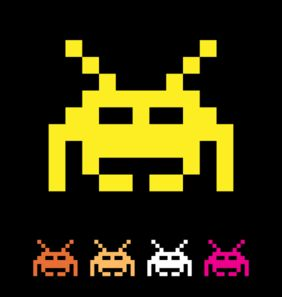 Space Invaders clipart retro Catalog of Space Clip •