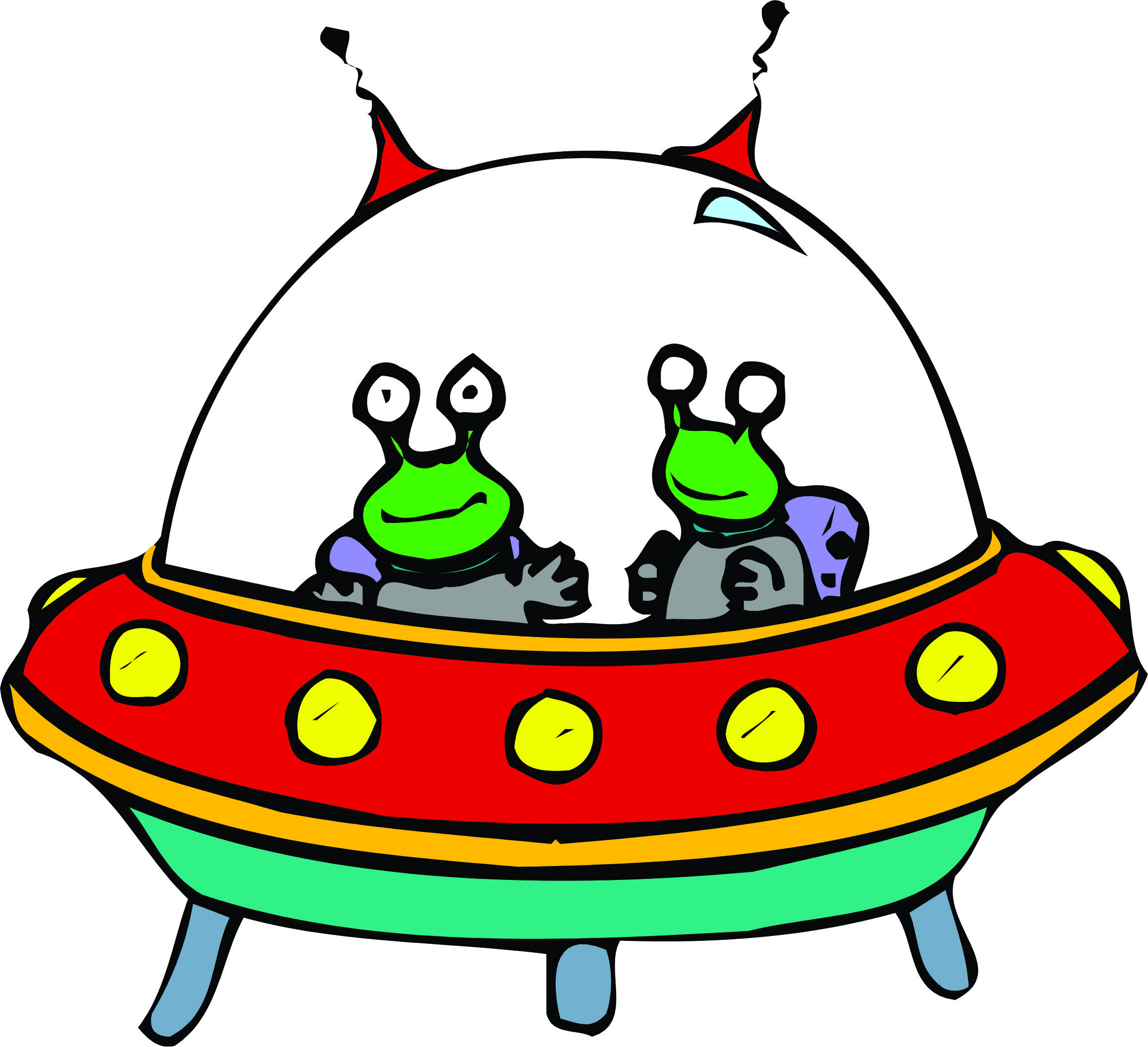 Sci Fi clipart cute alien spaceship #8
