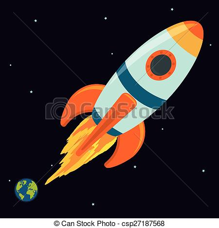 Drawn spaceship clipart Clip of Vector design over