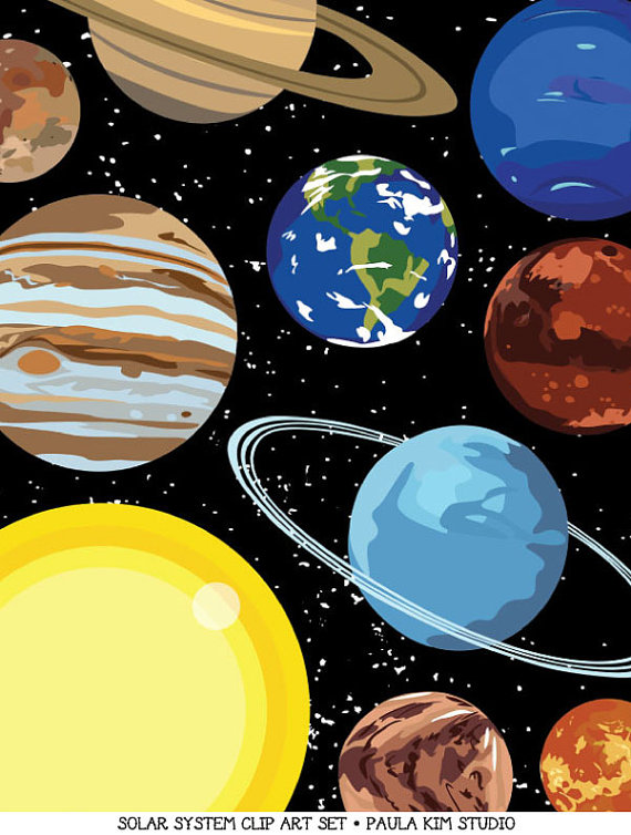 Space clipart solar system #3