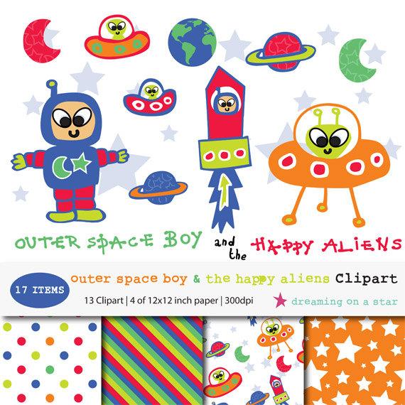 Alien clipart space man SPACE Astronaut Comm Art Alien