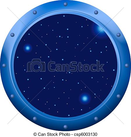 Window clipart spaceship Vector window with of porthole
