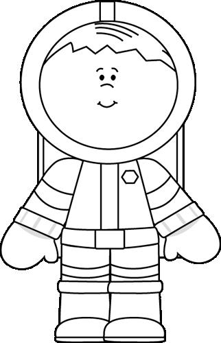 Spacesuit clipart White Astronaut  Clip White